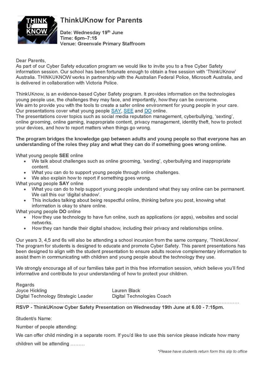 Website Administrator   Greenvale Primary School